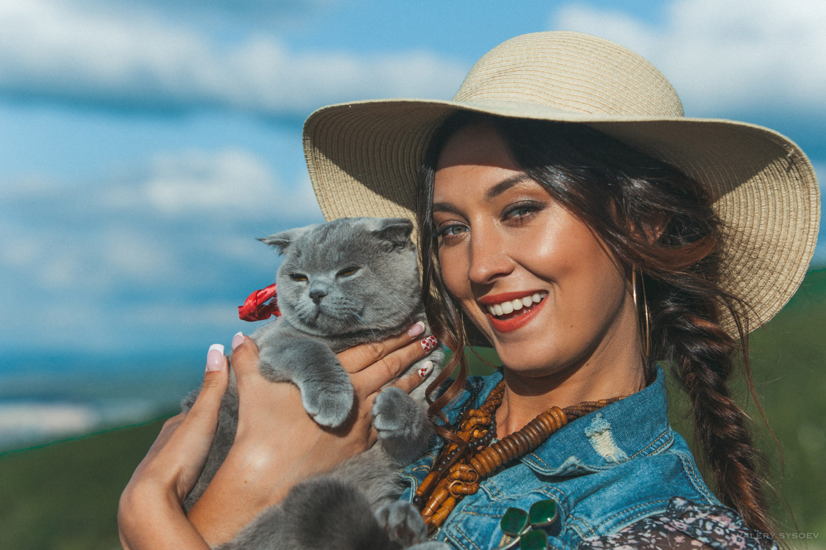 фотосессия с кошкой